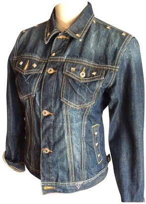 GUESS Turquoise Denim - Jeans Trench Coat for Women
