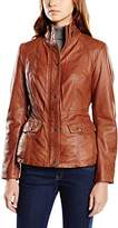 Mustang Leather Women's Long Sleeve Jacket - Brown