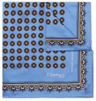 E.Marinella Printed Silk-Twill Pocket Square