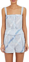 Thierry Colson Women's Striped & Checked Cotton Voile Top