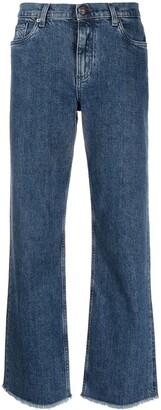 Etro High Rise Straight-Leg Jeans