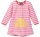 Toobydoo Striped Kangaroo Pocket Dress (Baby Girls)