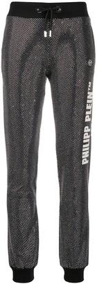 Philipp Plein Glitter-Effect Slim-Fit Trousers