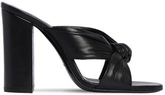 Saint Laurent 100mm Loulou Leather Sandals