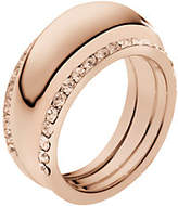 Michael Kors Pave Rose Gold-Tone Insert Ring
