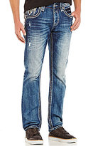 Rock Revival Straight-Leg Distressed Denim Jeans