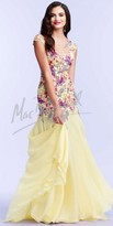 Mac Duggal Floral Embroidered Prom Dress
