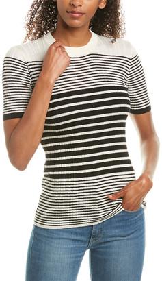 ATM Anthony Thomas Melillo Striped Silk & Cashmere-Blend Sweater