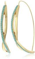 Jules Smith Designs Small Pave Twist Hoop Earrings