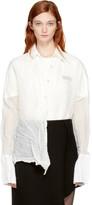 Yang Li Off-white Treated Crushed Shirt