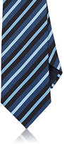 Ermenegildo Zegna Men's Diagonal-Striped Silk Necktie-NAVY