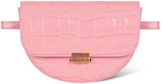 Wandler Anna Belt Bag Big Croco, Blossom