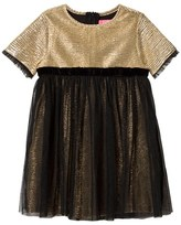 Le Big Gold and Black Tulle Dress