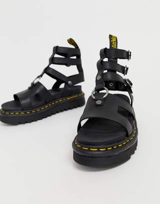 Dr. Martens Adaira gladiator leather chunky sandals in black