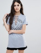 Brave Soul Tie Up T-Shirt
