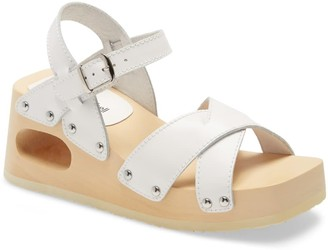 Jeffrey Campbell Spiced Wood Wedge Sandal