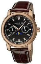 Akribos XXIV Akribos Ultimate Multi-Function Rose Gold-Tone Men's Watch