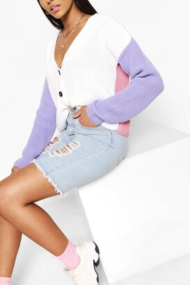 boohoo Colour Block Cardigan