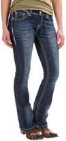 Rock & Roll Cowgirl Rival Rhinestone Bootcut Jeans - Low Rise (For Women)