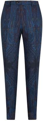 Etro Wool Paisley Trousers