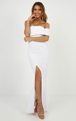 Showpo Glamour Girl Maxi Dress in white - 4 (XXS) Dresses