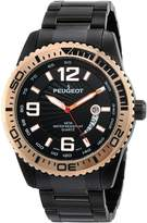 Peugeot Men's 1030BK Stainless Steel Watch