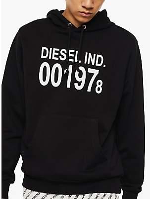 Diesel S-Girk Cotton Logo Hoodie, Black