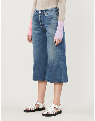 Citizens of Humanity Emily wide-leg high-rise organic cotton denim culottes