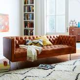 "west elm Modern Chesterfield Leather Sofa (79"")"