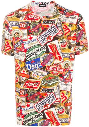 DSQUARED2 all over print T-shirt
