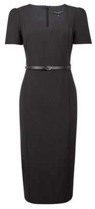 Dorothy Perkins Womens Black Belted Tailored Dress, Black