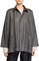 eskandar Wool-Cashmere Long-Back Jacket