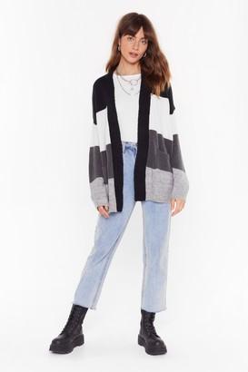 Nasty Gal Womens We've Seen Your True Colors Knit Longline Cardigan - Black