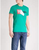 Diesel T-diego-qa Cotton-jersey T-shirt
