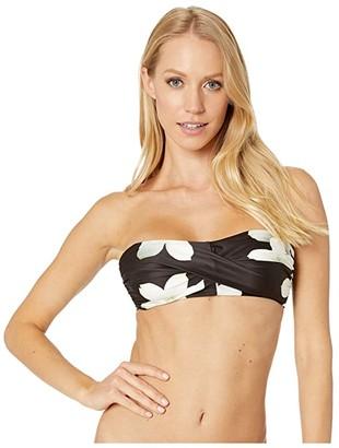 Lauren Ralph Lauren Villa Floral Hidden Underwire Bandeau (Black/White) Women's Swimwear