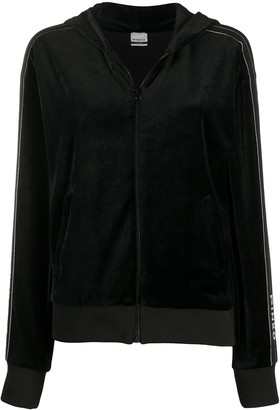Pinko Hooded Velvet Jacket