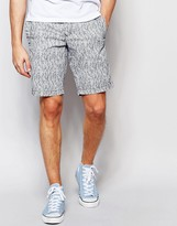 Tommy Hilfiger Chino Shorts with Small Leaf Print in Gray
