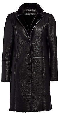 J Brand Women's Charlette Faux Leather & Faux Shearling Overcoat
