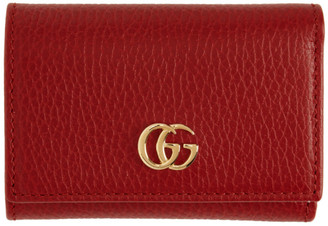 Gucci Red Medium GG Marmont Wallet