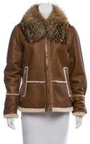 Bogner Fur-Trimmed Shearling Coat