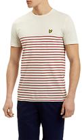 Lyle & Scott Breton Stripe T-shirt, Pomegranate