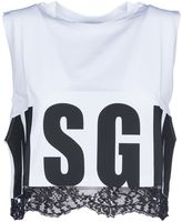 MSGM Lace Trim Crop Top