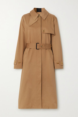 Givenchy Grosgrain-trimmed Cotton-gabardine Trench Coat - Beige