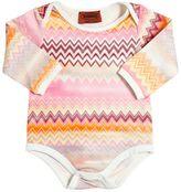 Missoni Zigzag Printed Cotton Jersey Bodysuit