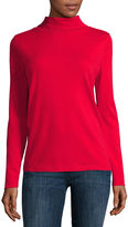 Liz Claiborne Long-Sleeve Knit Turtleneck