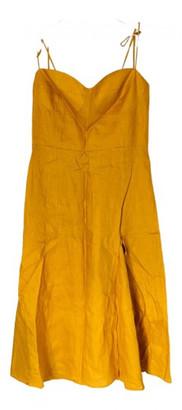 Reformation Yellow Viscose Dresses