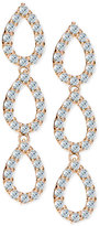 Giani Bernini Cubic Zirconia Pavé Triple Drop Earrings in 18k Rose Gold-Plated Sterling Silver, Only at Macy's