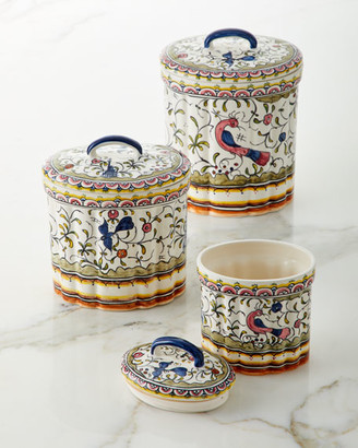 Keramos Nazari Pavoes Canisters Set of 3