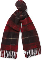 Lanvin - Checked Wool Scarf