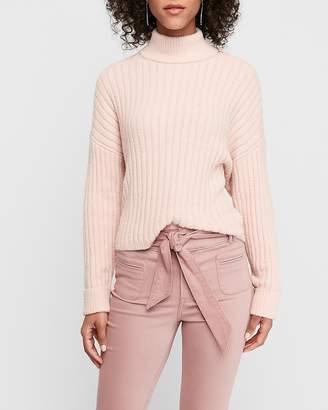 Express Supersoft Ribbed Turtleneck Sweater